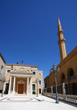 beirut kyrklig lebanon moské Arkivbild