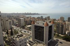 Beirut, Lebanon. View at the sea form Jounieh, Lebanon Royalty Free Stock Image