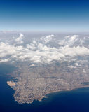 Beirut, Lebanon. Aerial view looking down on the city of Beirut, Lebanon Royalty Free Stock Images