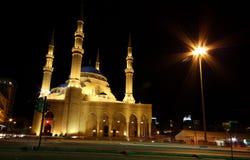 beirut lebanon moské Arkivbild