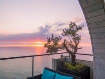 Amazing sunset in Beirut, Lebanon royalty free stock photography