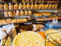 Traditional Lebanese sweets. BEIRUT, LEBANON - NOVEMBER 1, 2017 - Traditional Lebanese sweets on sale stock image