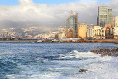 Beirut on the Mediterranean Royalty Free Stock Photography