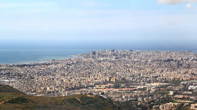 Beirut on the Mediterranean, Lebanon Royalty Free Stock Images
