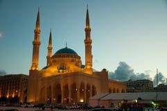 Beirut, mezquita de Mohammad Al-Amin Fotografía de archivo libre de regalías