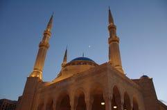 Beirut, mezquita de Mohammad Al-Amin Imagenes de archivo