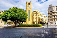 Beirut Place De L`Etoile 05. Beirut Place De L`Etoile Nijmeh Square Awesome Appealing Street Clock Tower stock photography