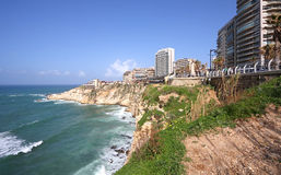 Beirut Promenade (Corniche), Lebanon. The famous Corniche Promenade area in Beirut Stock Photo