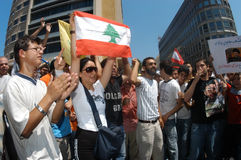 Beirut Protest Stock Image