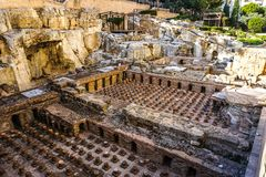 Beirut Roman Baths Site 03 royaltyfri foto
