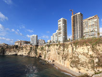 Beirut's Magnificent Coastline, Lebanon Royalty Free Stock Image