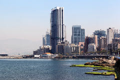 Beirut Skyline Royalty Free Stock Photography