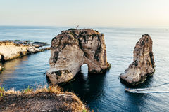 Beirut - Taubefelsen Lizenzfreies Stockfoto