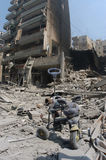 Beirut under Bombing Stock Photography