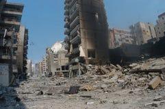 Beirut unter Bombardierung stockfoto