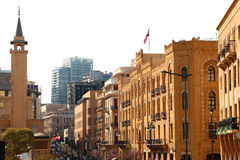 Beirute da baixa Fotos de Stock Royalty Free