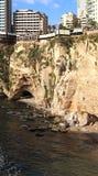 Beiruts Kalkstein-Klippen (der Libanon) Lizenzfreie Stockfotos