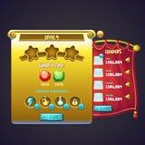 Beispiel des Fensterniveaujobs im Computerspiel Stockfoto