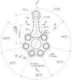 Beispiel des Industriedokumentenplanes vektor abbildung