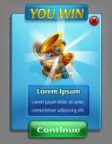 Beispiel einer Benutzerschnittstelle für eine Computerspielschatzsuche lizenzfreie abbildung
