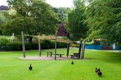 Beispiel eines Parks, Abey-Gärten, Bedecken-St. Edmunds, Suffolk, Großbritannien Stockbilder