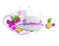 Beispielaufkleber - Sommer Stockbild
