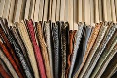 Beispiele der Polsterung für Möbel Stockbild