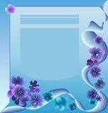 Beispielfo-Büro - Blau Stockbild