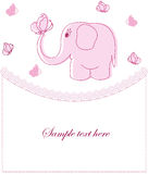 Beispielkarten mit rosa Elefanten Lizenzfreie Stockbilder
