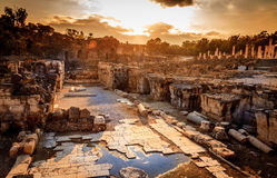 Beit She'an. Ancient city of Beit She'an in Israel Stock Photography