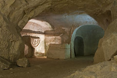 Beit She'arim National Park. Beit She'arim is the archeological site of a Jewish town and a large number of ancient rock-cut Jewish tombs Stock Image