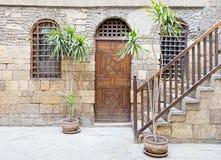 Beit El集合Waseela Waseela Hanem议院,中世纪开罗,埃及 免版税库存图片
