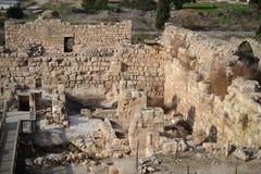 Beit Guvrin en Maresha, oude ruïnes, archeologische plaats in Israël stock foto's