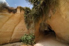 Beit Guvrin(Maresha) caves. Limestone cave in Bet Guvrin (Maresha), Israel. Beit Guvrin area was mentioned in many parts of history of Israel Stock Photo