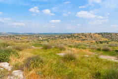 Beit Guvrin-Maresha National Park. View on biblical landscape Beit Guvrin Maresha. Maresha also Marissa is the famous tourist and archaeological site in Israel Royalty Free Stock Photos