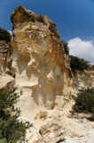 Beit Guvrin(Maresha) rock. Limestone caves and rocks in Bet Guvrin (Maresha), Israel. Beit Guvrin area was mentioned in many parts of history of Israel Stock Photography