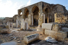 Beit Guvrin. Ruins of ancient temple in Beit Guvrin, Israel Royalty Free Stock Photography