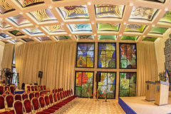Beit Hanassi Reception Hall. This is a fish-eye view of the Reception Hall of the Ceremonial Wing of Beit Hanassi, the Official Residence of the President of royalty free stock images