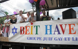 Beit Haverim bij de Vrolijke Trots 2010 van Parijs Royalty-vrije Stock Afbeelding