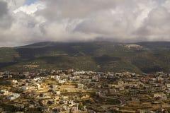 Beit Jann är en Druzeby i övreGalilee, Israel Royaltyfria Bilder