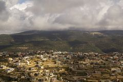 Beit Jann is an Druze village in Upper Galilee, Israel. Royalty Free Stock Images