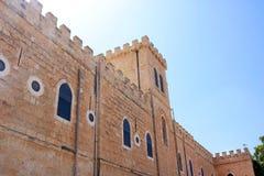 Beit Jimal eller Beit Jamal Catholic kloster nära Beit Shemesh arkivbilder