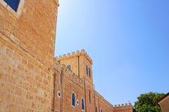 Beit Jimal eller Beit Jamal Catholic kloster nära Beit Shemesh royaltyfria foton