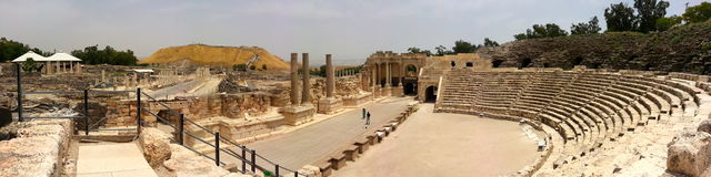 Beit She'an Roman theatre in Israel Stock Images