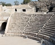 Beit Shean Roman Theater. Beit Shean ancient roman theater ruins, Israel Royalty Free Stock Images