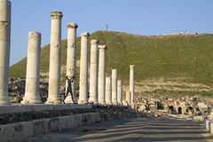 Beit Shean ruins ,Israel. Royalty Free Stock Images