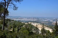 Beit Shemesh - Israel. Landscape of the modern city of Beit Shemesh, located in the Judean mountains ridge near Jerusalem, Israel Stock Photo
