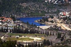 Beit Zayit Reservoir a Gerusalemme, Israele Fotografia Stock