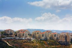 Beitar Illit Israeli settlement in West Bank. Beitar Illit Israeli settlement West Bank Stock Photos