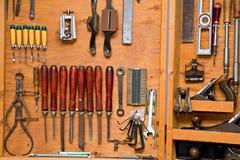 Beitels op de muur Stock Foto